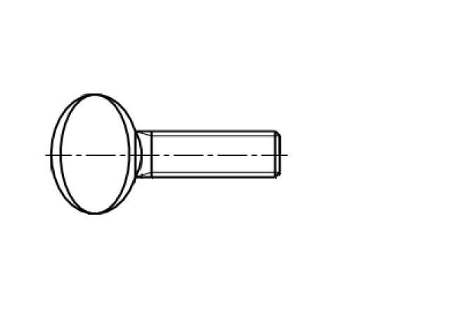 AN 264 śruba kciukowa