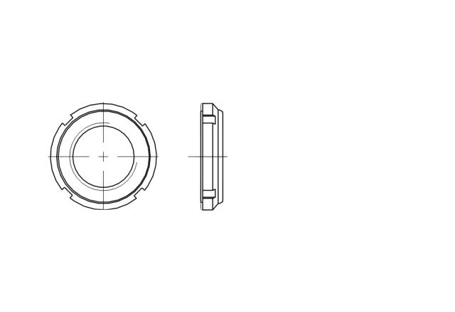 AN 86 nakrętka do łożysk samokontrująca z wkładką poliamidową