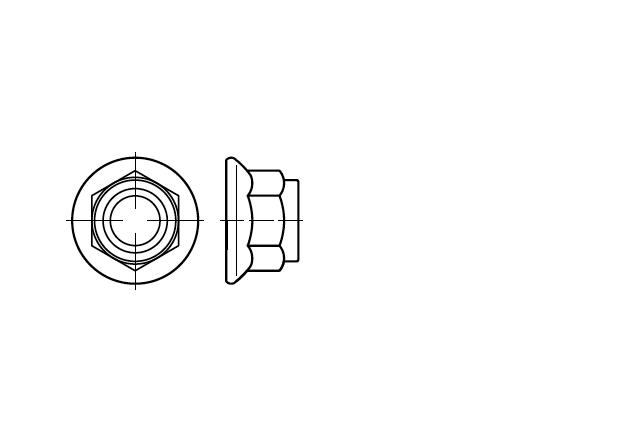 DIN 6926 nakrętka samohamowna z kołnierzem z wkładką poliamidową