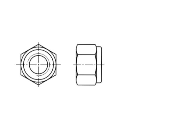 DIN 982 / ISO 7040 nakrętka samohamowna wysoka z wkładką poliamidową