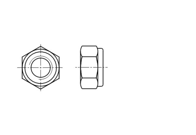 ~DIN 985 / ~ISO 10511 / ~PN 82175 nakrętka sześciokątna calowa samohamowna z wkładką poliamidową