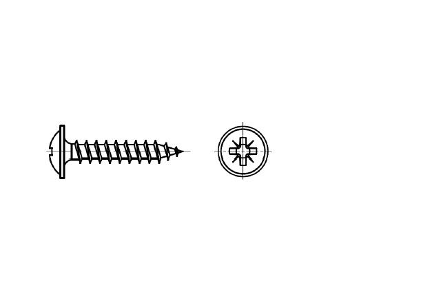 wkręt z łbem kołnierzowym na śrubokręt krzyżakowy – AN 204