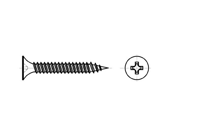 wkręt do profili stalowych z łbem stożkowym - AN 206