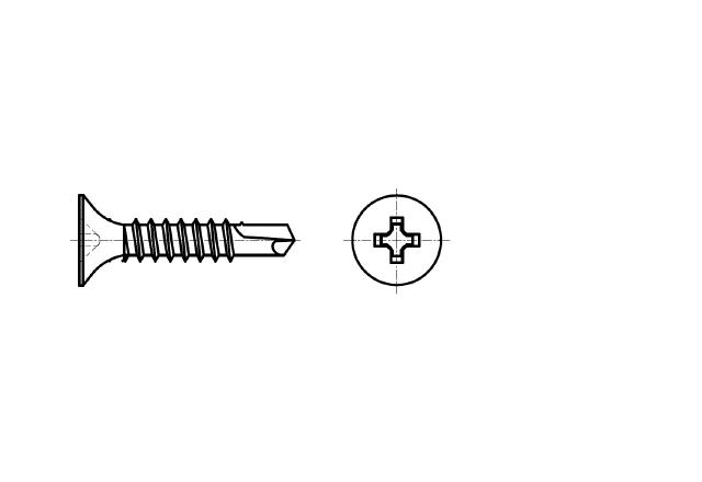 wkręt samowiercący do profili stalowych z łbem stożkowym – AN 208