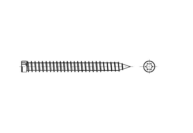 wkręt do ościeżnic z łbem walcowym - AN 234 W