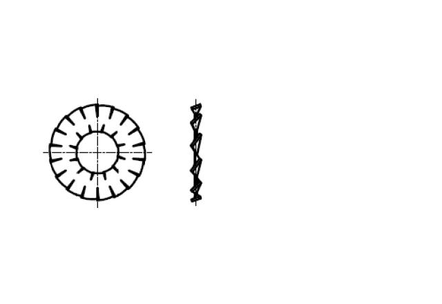 DIN 6798DD podkładka sprężysta wachlarzowa uzębiona zewnętrznie i wewnętrznie