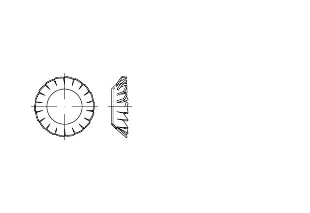 DIN 6798V podkładka wachlarzowa stożkowa ząbkowana zewnętrznie