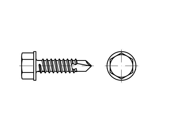 DIN 7504K / ISO 15480 wkręt z wiertłem z łbem sześciokątnym