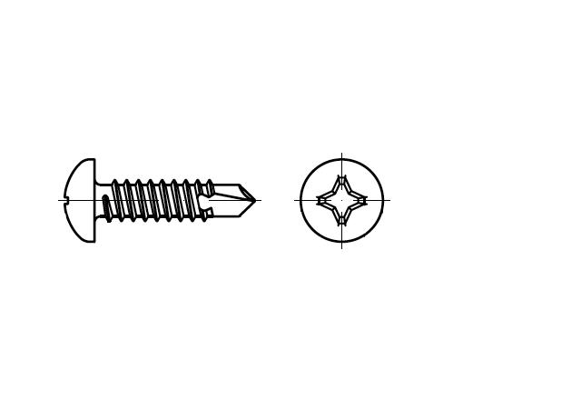 DIN 7504M / ISO 15481 wkręt z wiertłem z łbem walcowym