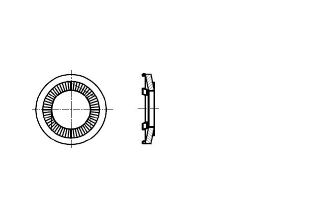 NFE 25-511 podkładka kontaktowa z pikotami