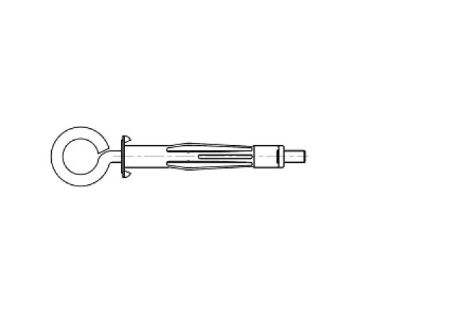 kołek rozporowy stalowy z haczykiem oczkowym do płyt gipsowych MOLLY - AN 253O
