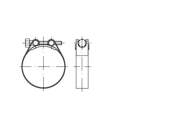 DIN 3017 C1 opaska zaciskowa z zamknięciem przegubowym