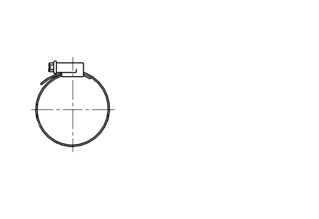 DIN 3017A opaska zaciskowa ślimakowa