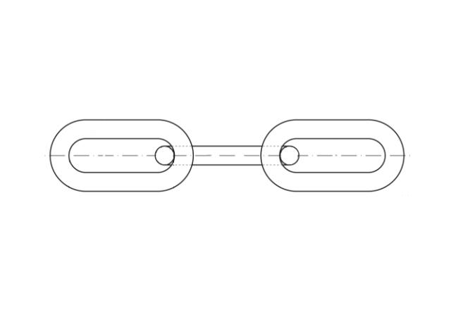 łańcuch z długimi ogniwami