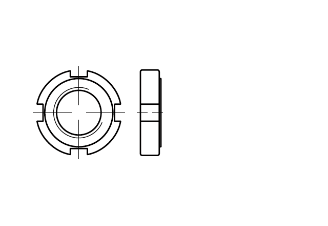 Nakrętka okrągła z rowkami DIN 1804