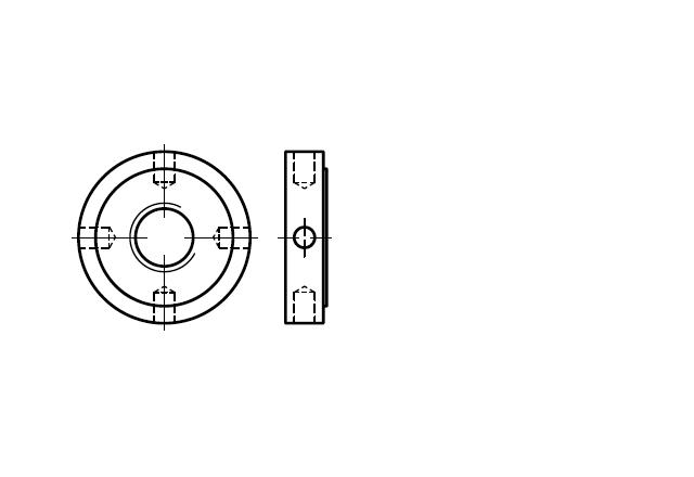Nakrętka okrągła otworowa DIN 1816