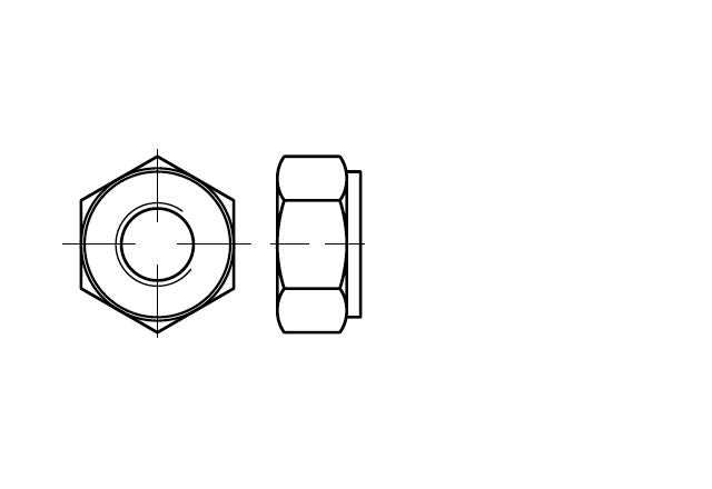 Nakrętka do połączeń kołnierzowych DIN 2510 NF