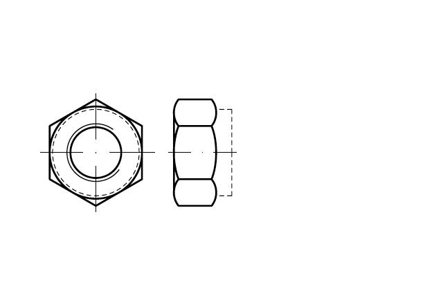 Nakrętka samozabezpieczające jednolita DIN 6925