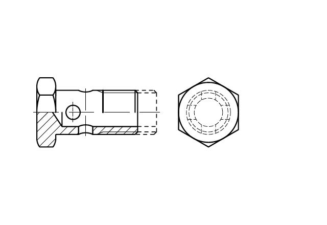 DIN 7643 Śruba drążona