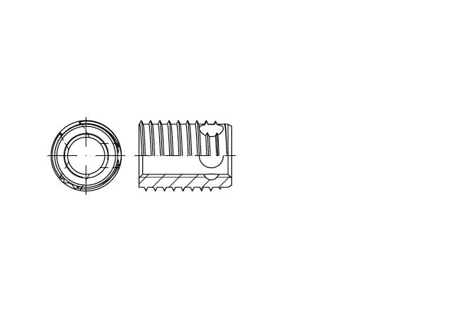 SN 337 Wkładka gwintowana samogwintująca z otworami