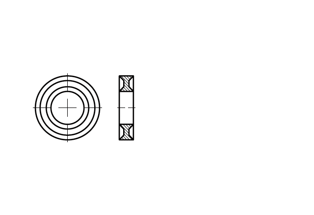 SN 88494 Podkładka profilowana do śrub sześciokątnych DUBO
